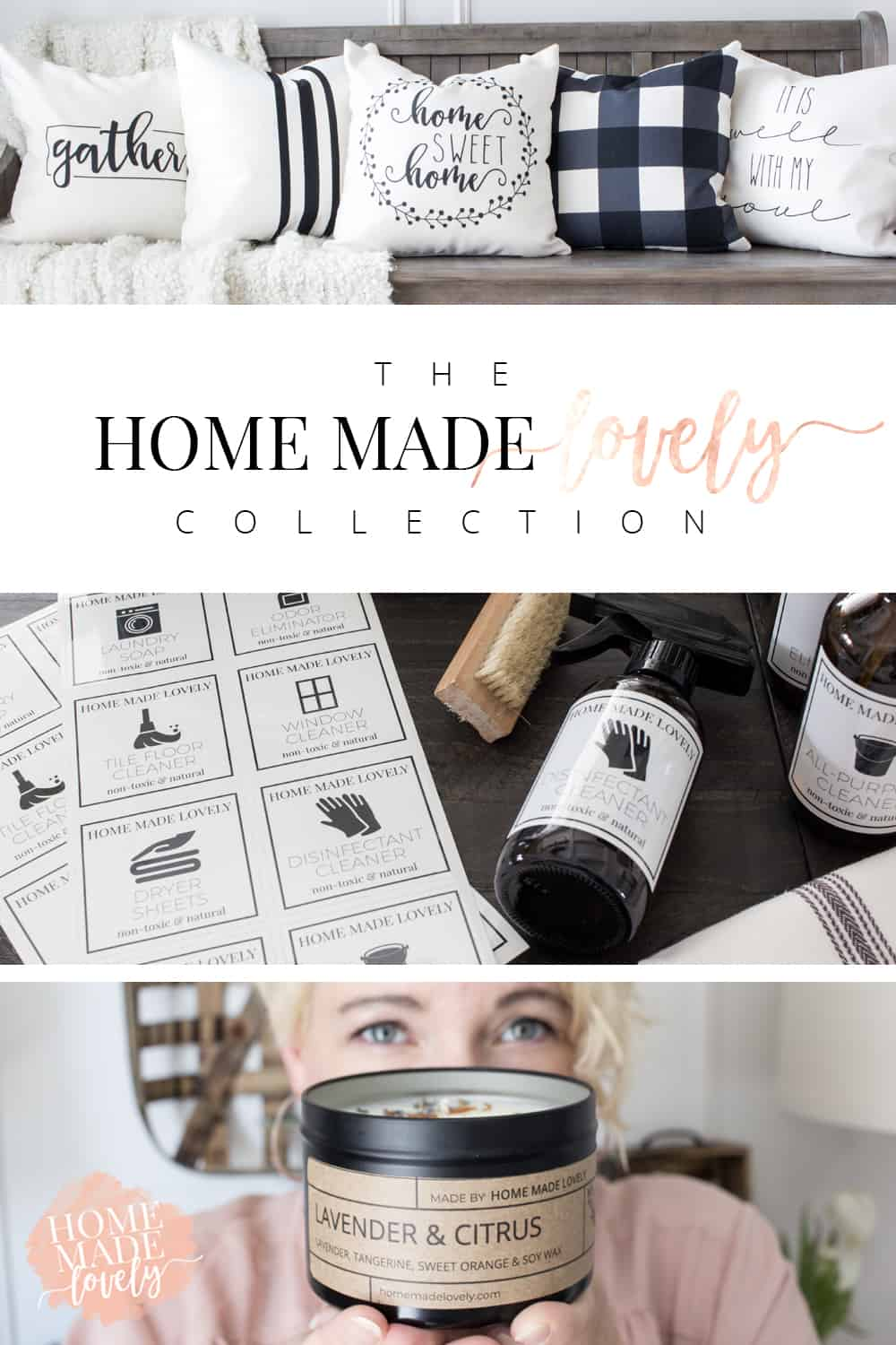 Our collection of modern farmhouse-inspired home decor is finally here! Introducing The Home Made Lovely Collection.