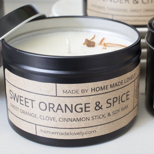 candle sweet orange and spice detail banner