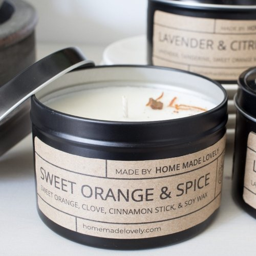 candle sweet orange and spice detail square