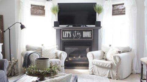 Farmhouse Style Summer Home Tour – Our Living Room & Dining Room