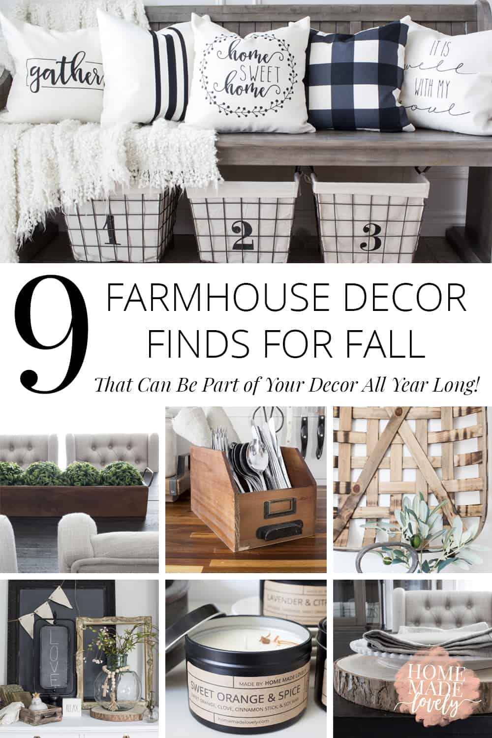 farmhouse decor finds for fall