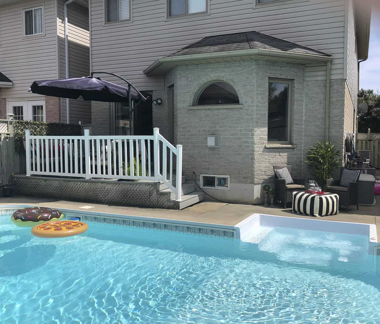 suburban pool and deck zones