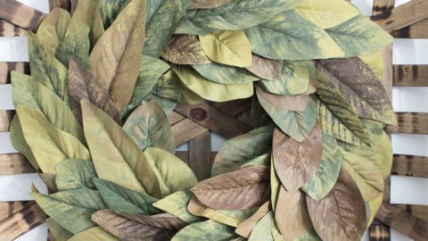 How to Make a Magnolia Leaf Wreath on the Cheap!