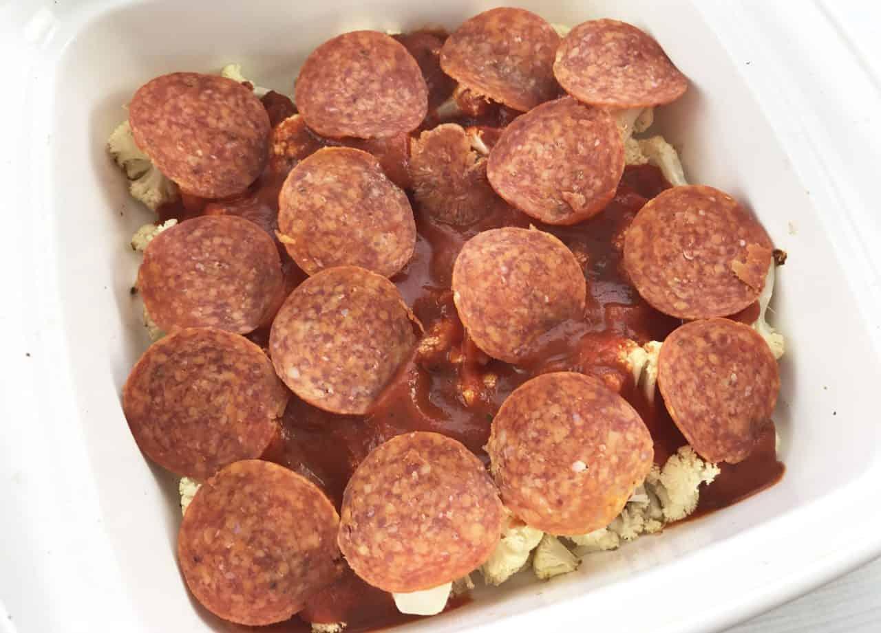 layering pizza casserole