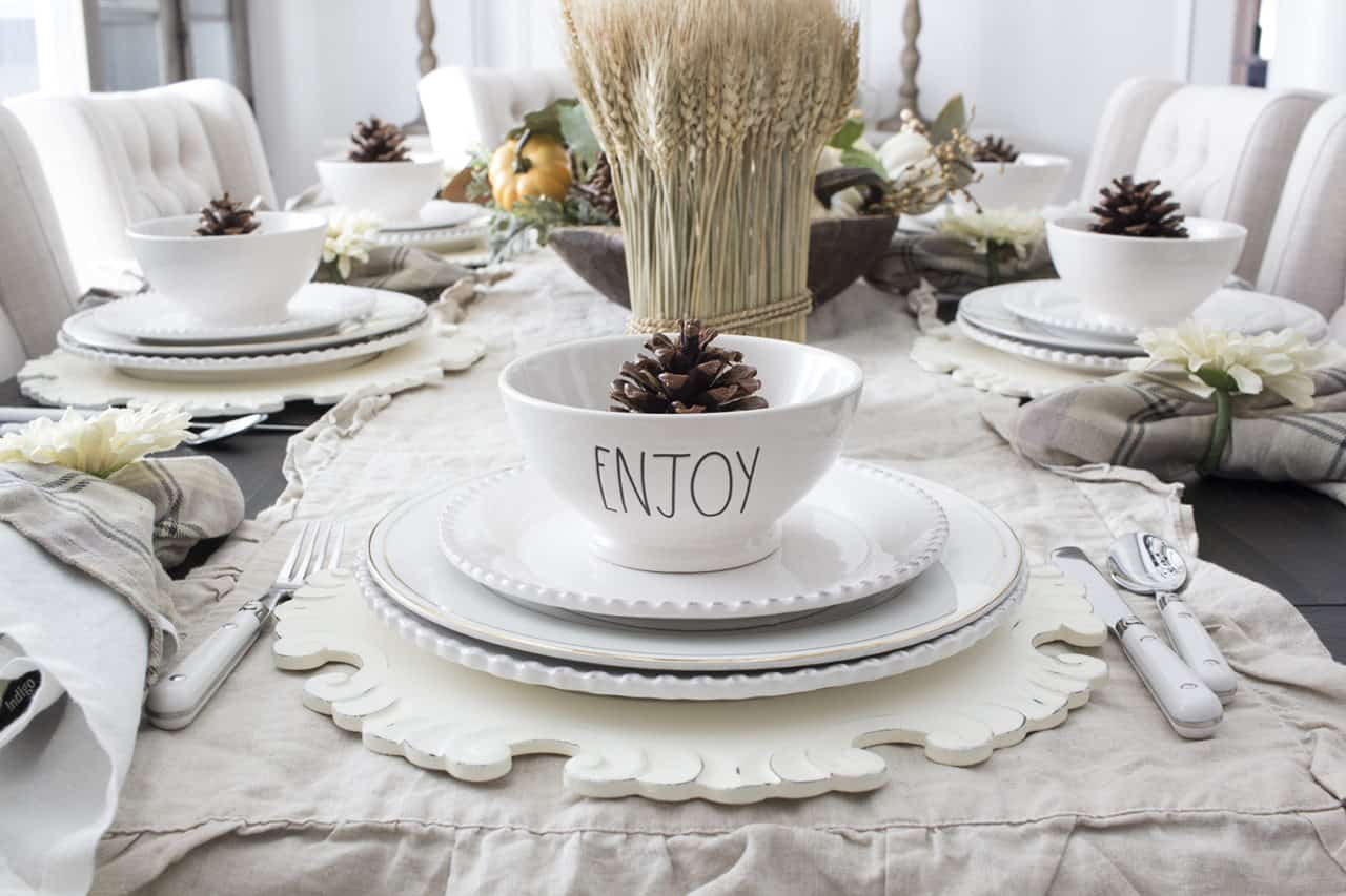 Layered fall table setting