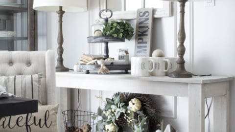 How to Add Simple Fall Farmhouse Style to the Dining Room