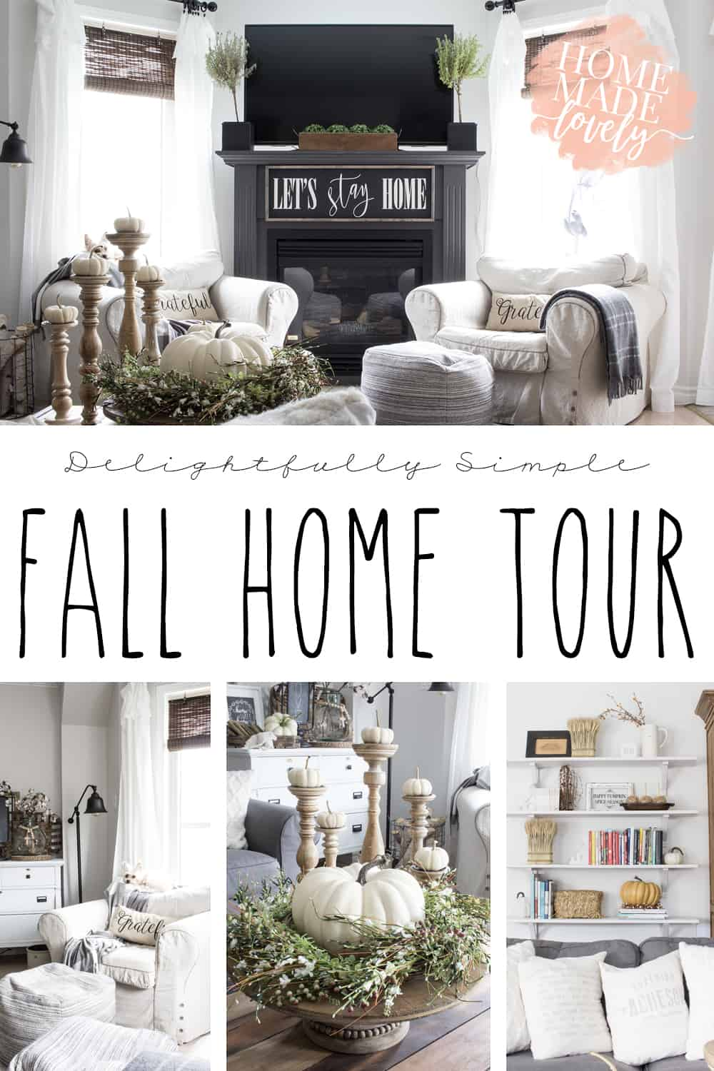 simple fall home tour pin