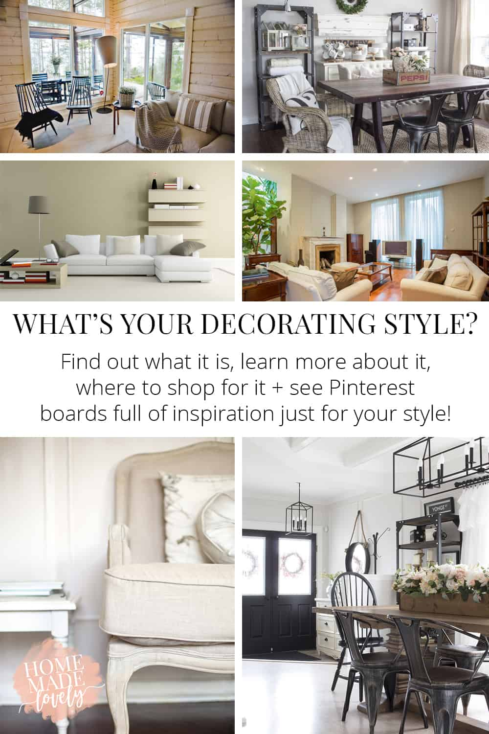 Find your unique decorating style get all the details about it