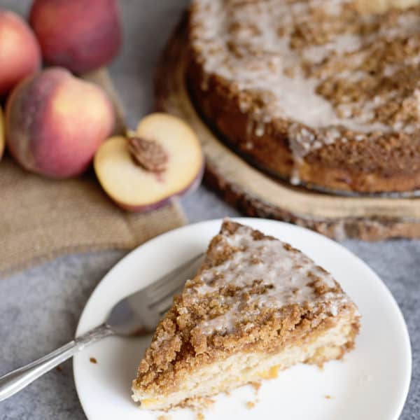 Absolutely the Best Homemade Peach Coffee Cake Ever