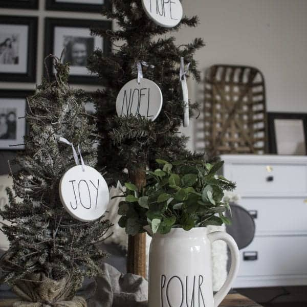 Rae Dunn DIY Ornaments