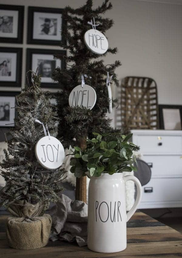 How to Make Rae Dunn Ornaments with a Sharpie!