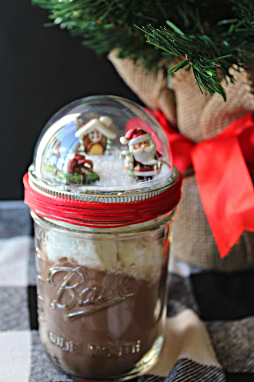 Snow Globe Mason Jar