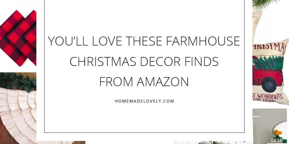 farmhouse Christmas decor finds from amazon