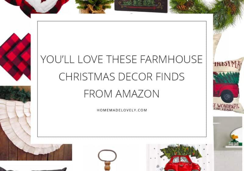 farmhouse Christmas decor finds from amazon