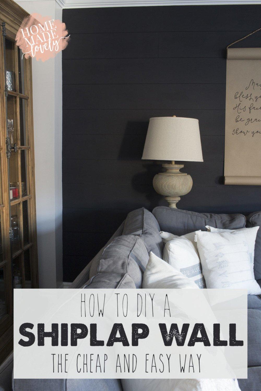 how to diy a shiplap wall pin