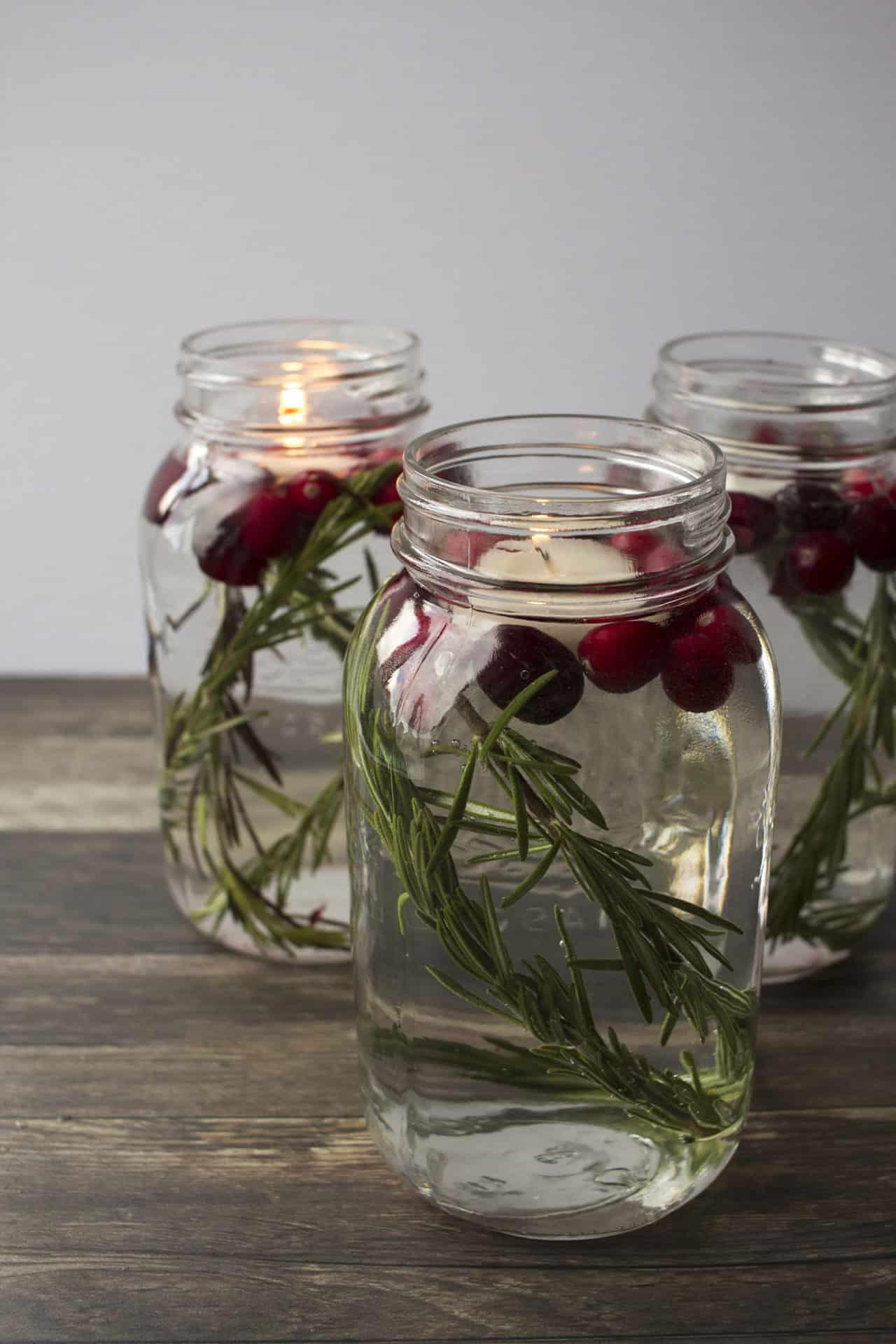 mason jar floating candles