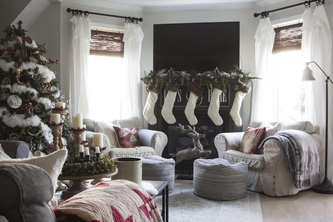 HML Shannon Christmas Living Room