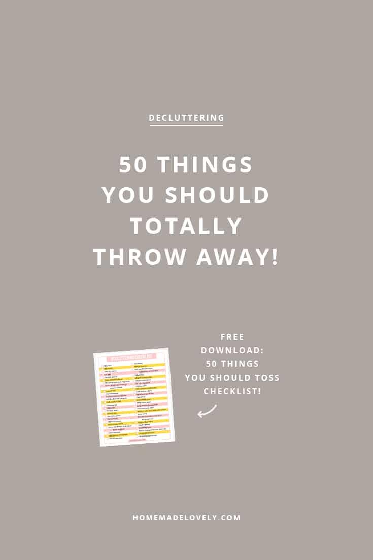 free decluttering checklist download