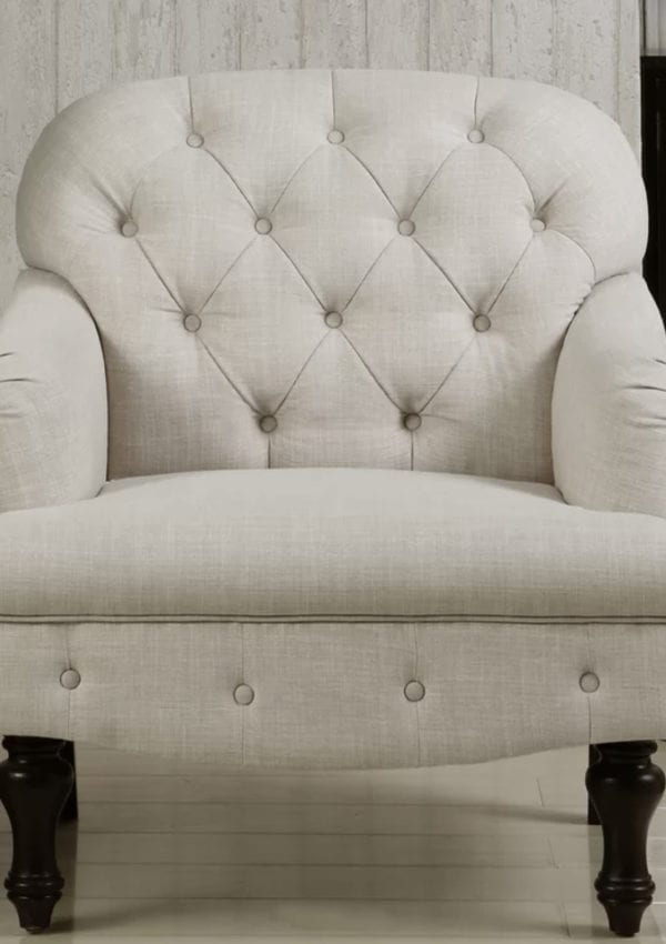 Where to Find Beautiful Inexpensive Farmhouse Tufted Armchairs