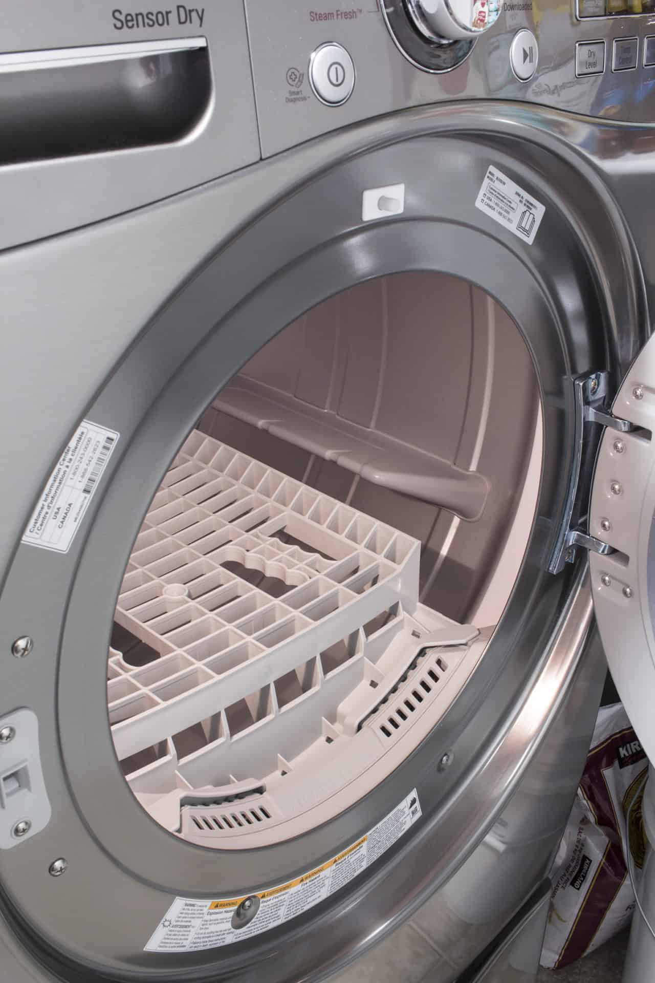 drying rack inside dryer