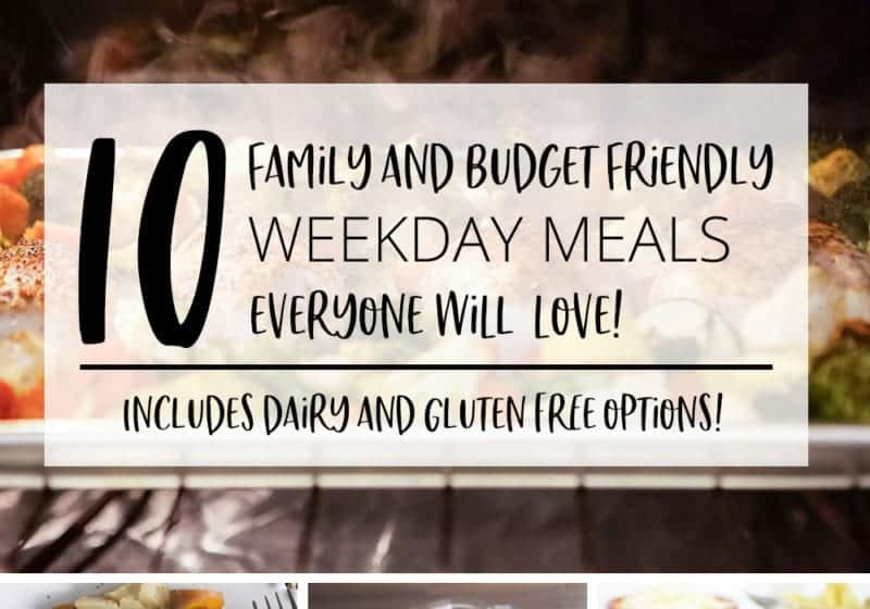 10 family and budget friendly weekday meals