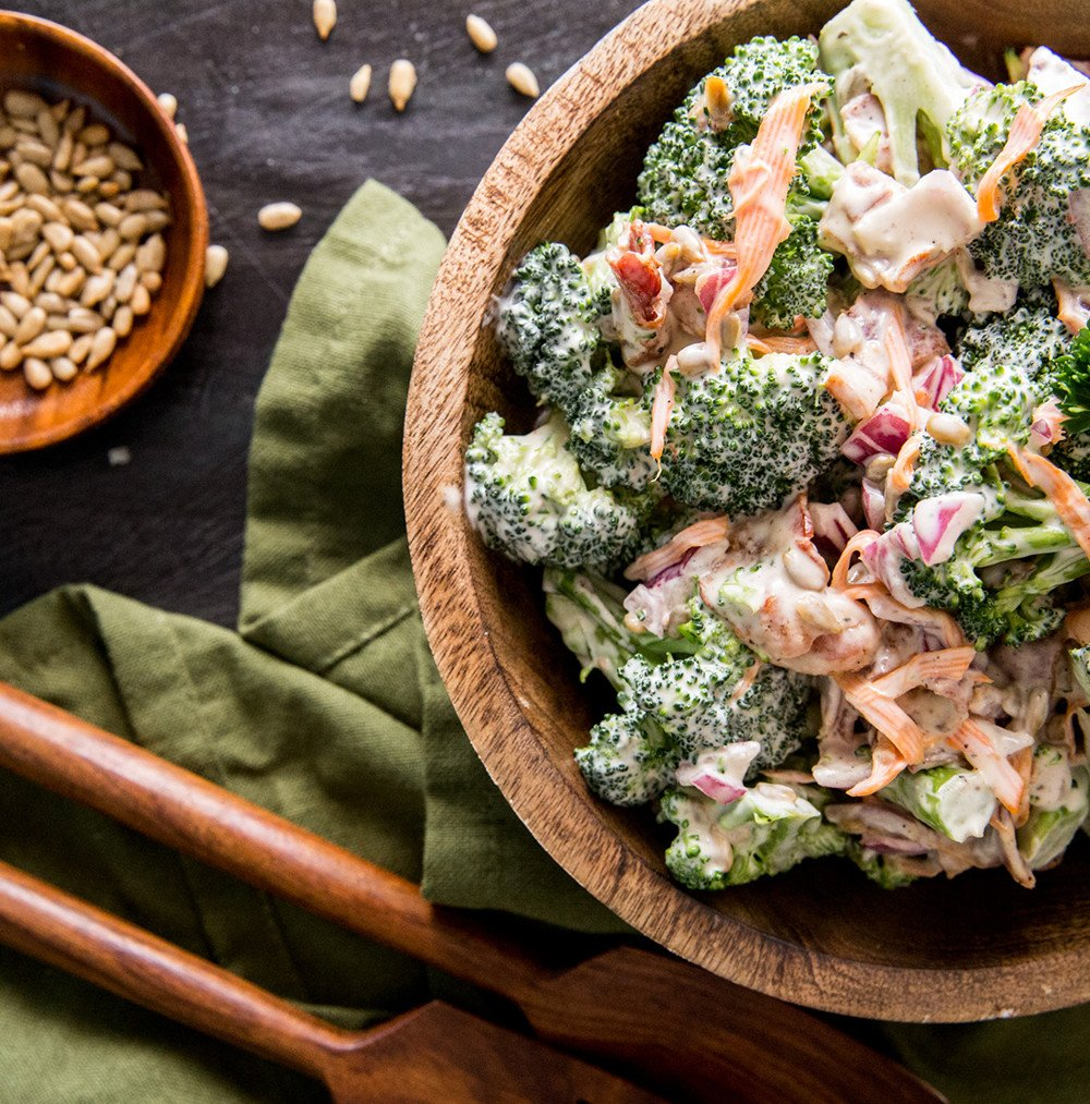 bacon broccoli salad