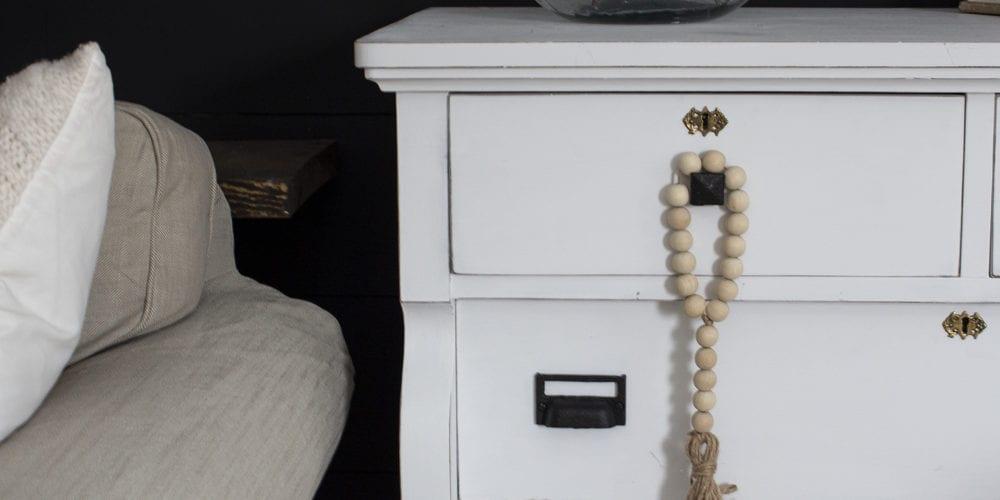 door knob hanger on dresser living room