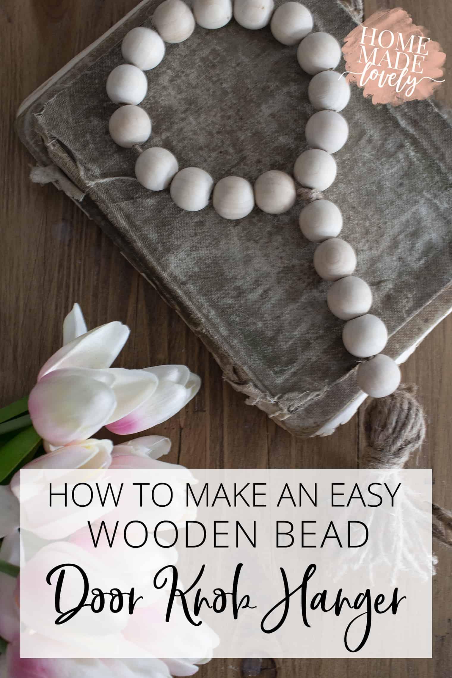 wooden bead door knob hanger pin