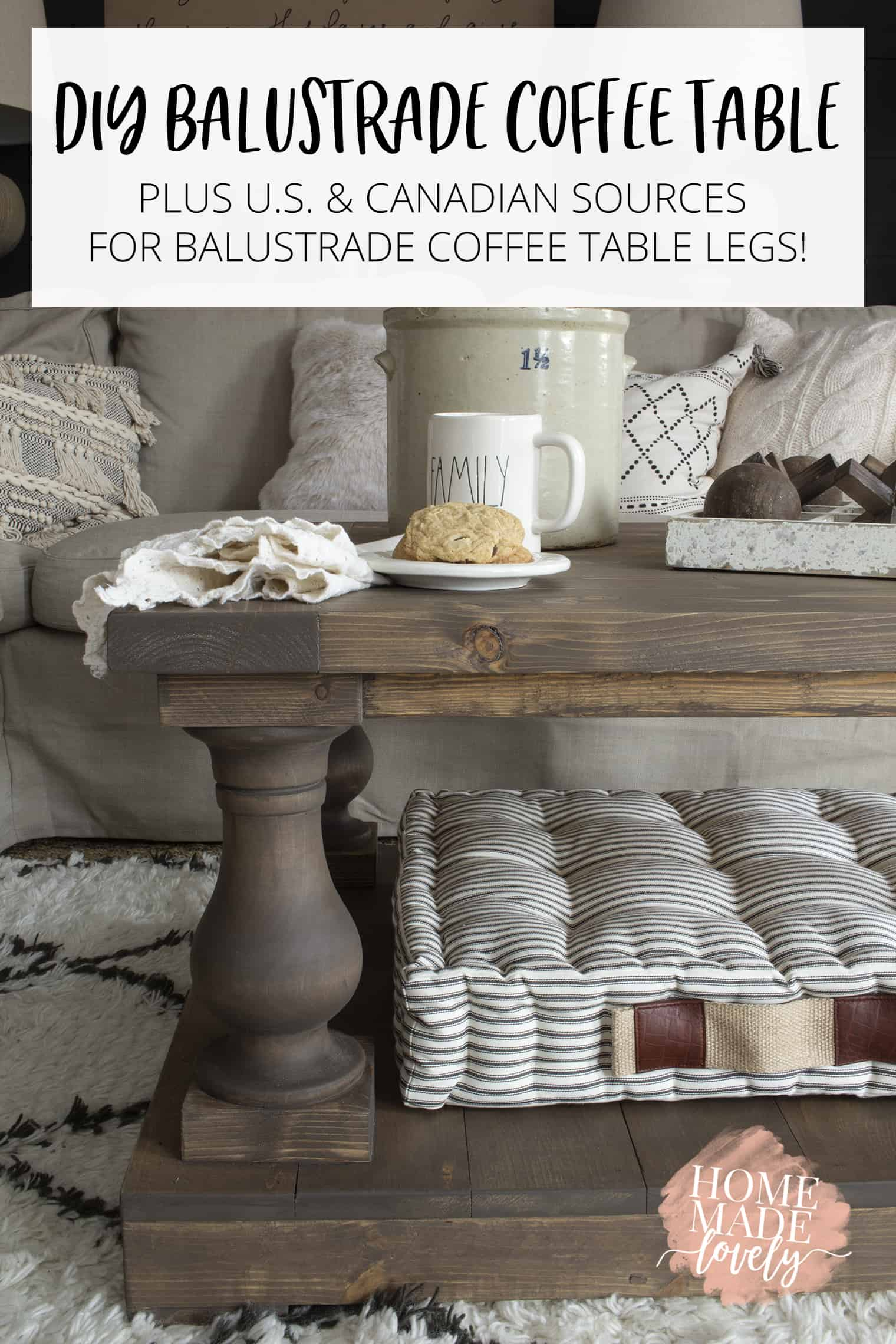 DIY balustrade coffee table pin