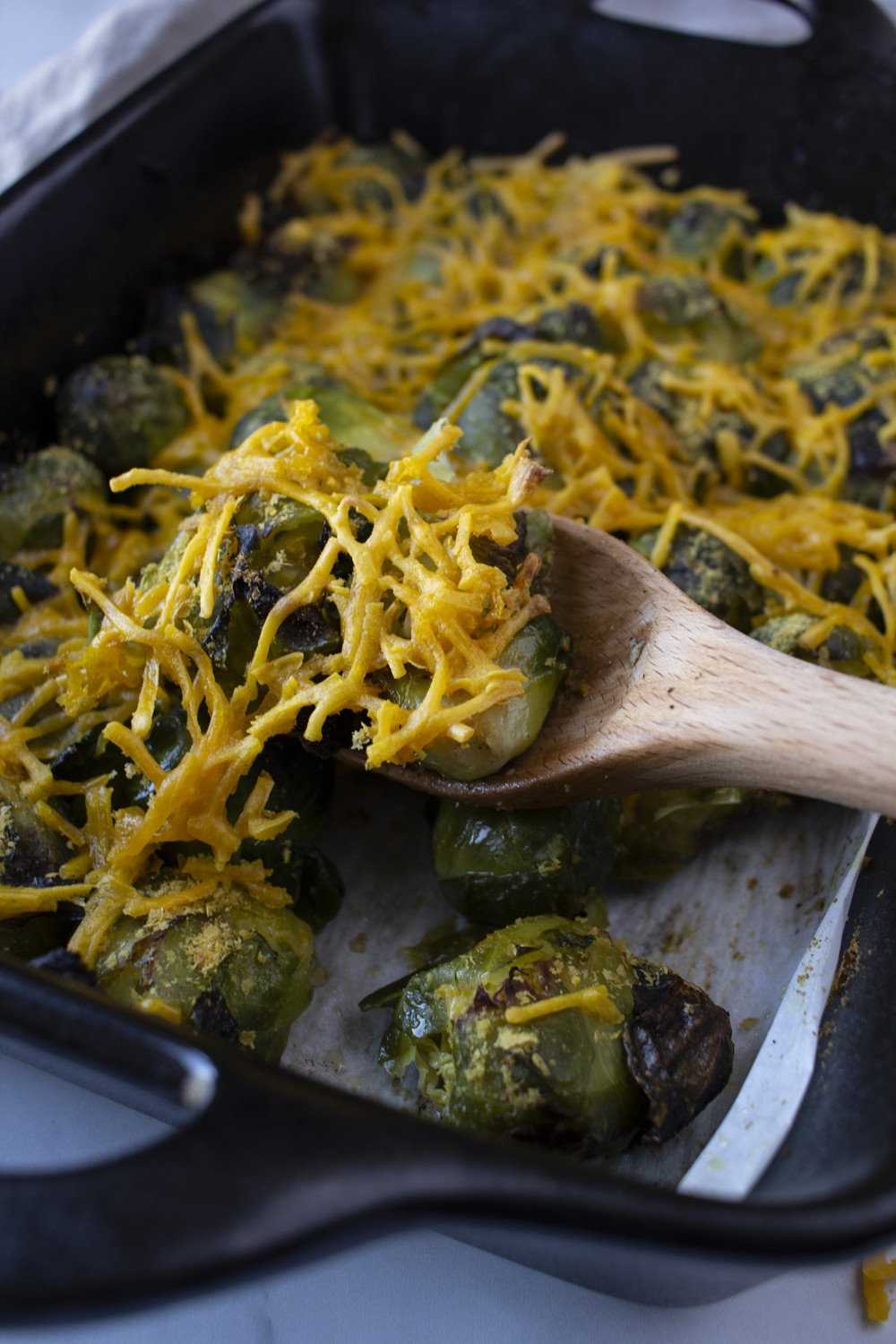 dairy free smashed brussel sprouts