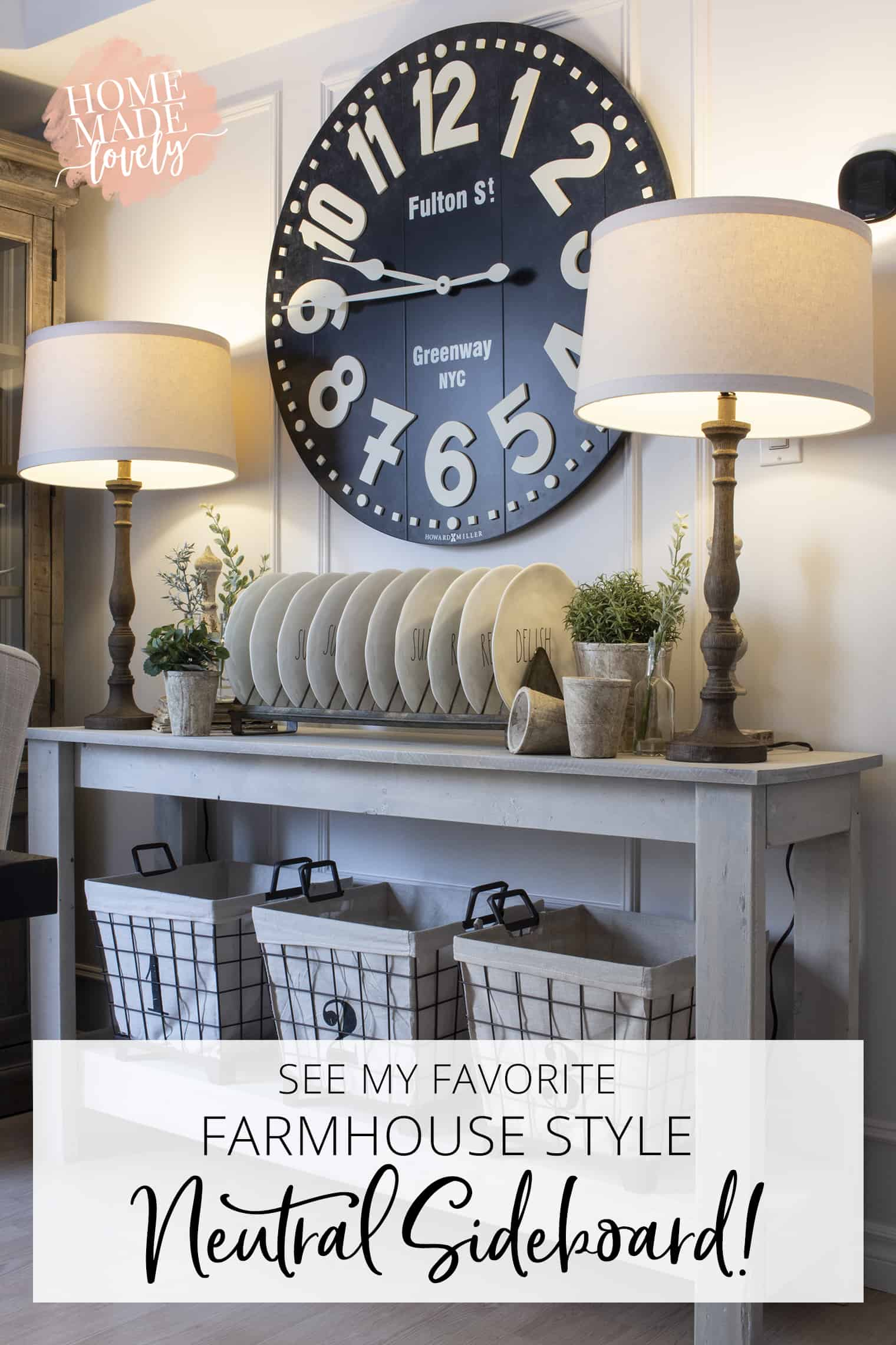 farmhouse style neutral spring decor pin