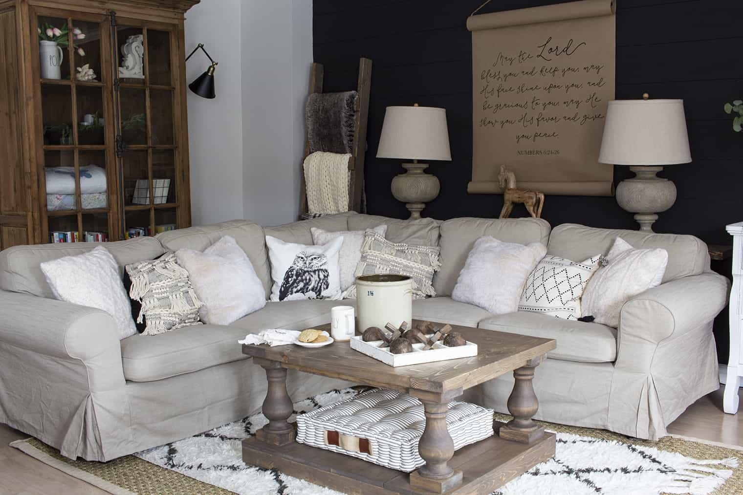 ikea ektorp sectional couch farmhouse style