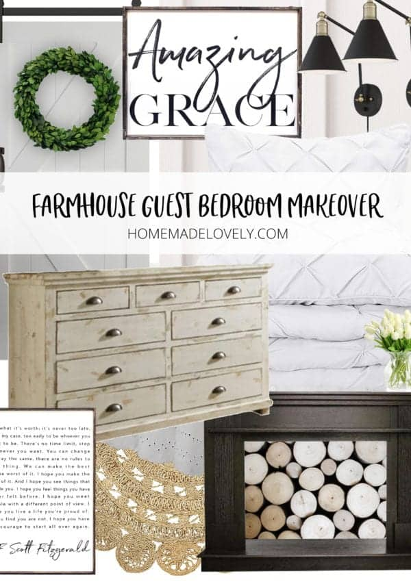Farmhouse Guest Bedroom Makeover – Before & Plans (Wk 1 of 6)