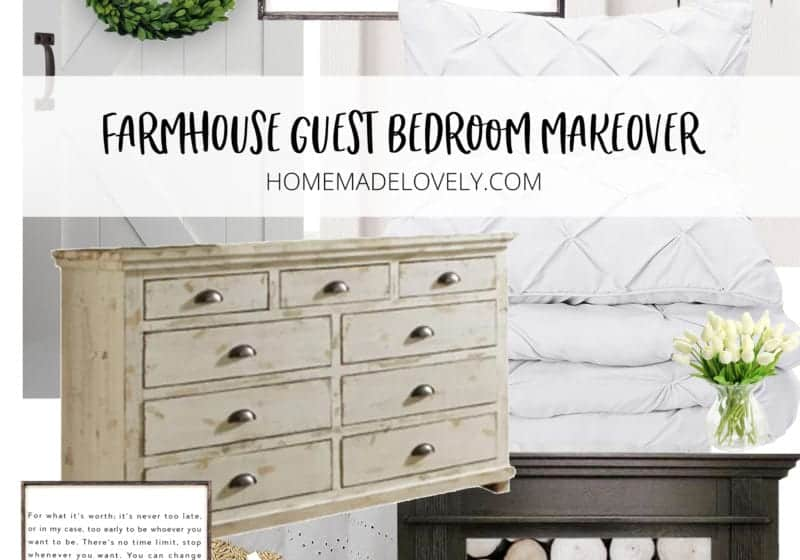 Farmhouse Guest Bedroom Makeover plan