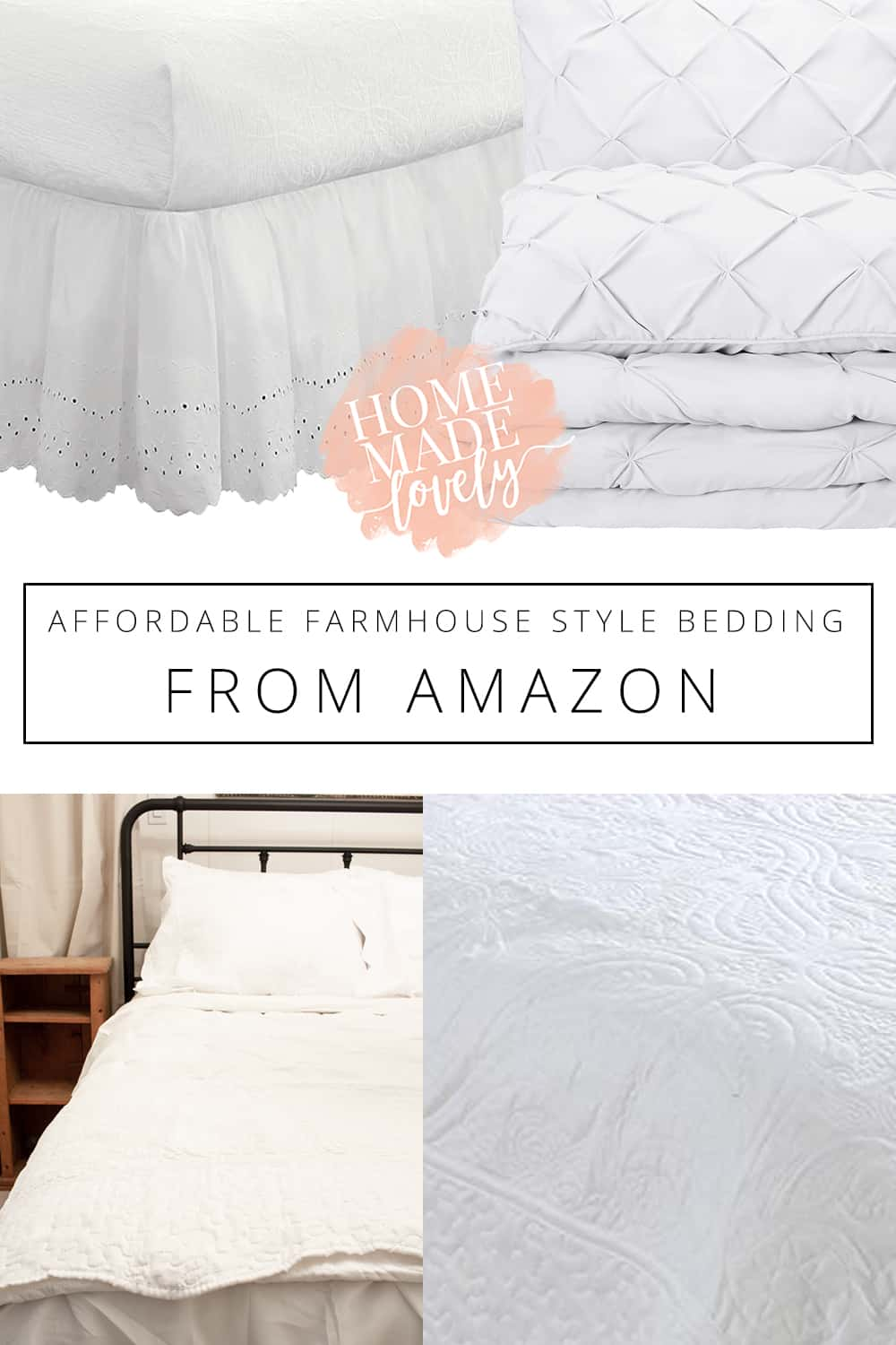 affordable farmhouse style bedding pin