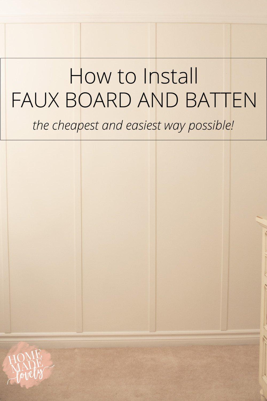 install faux board and batten