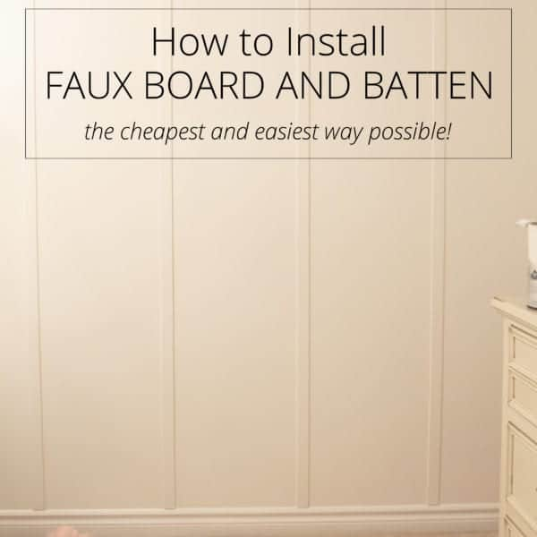 install faux board and batten