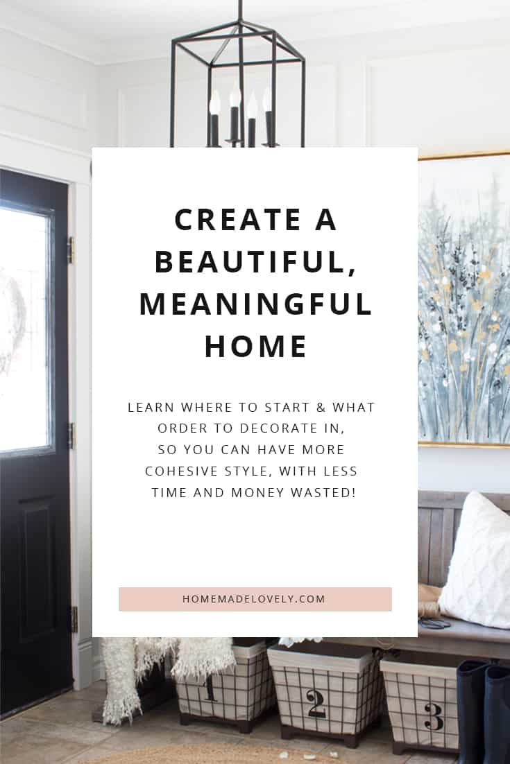 start here decorating your home