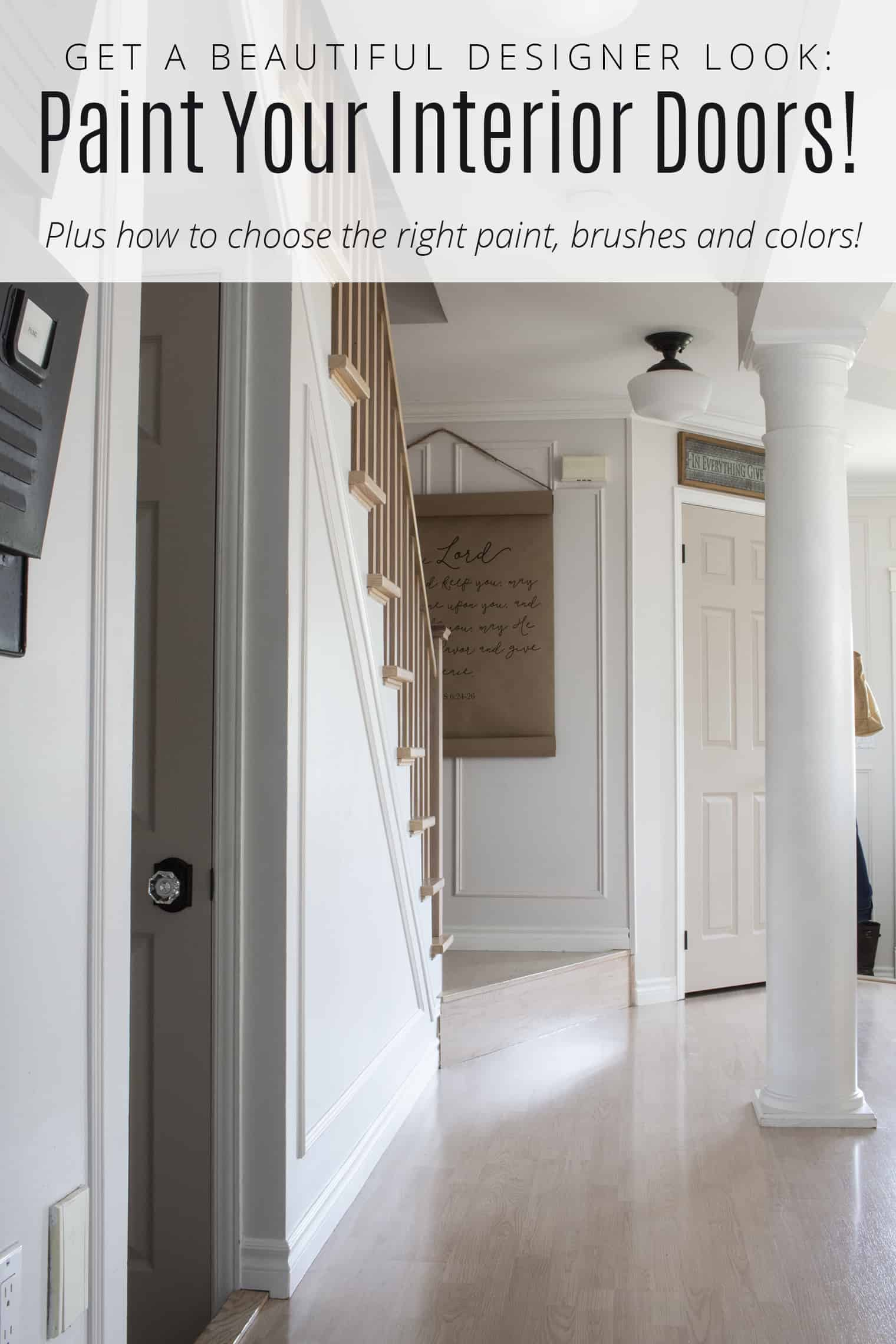 Get A Beautiful Designer Look When You Paint Your Interior Doors