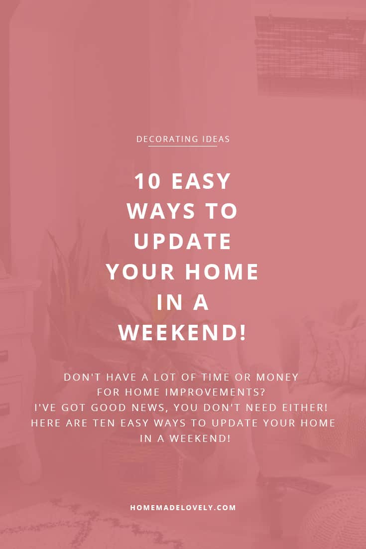 easy ways to update your home