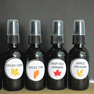fall essential oil room sprays diy