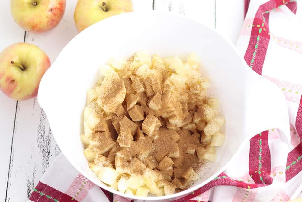 apples cinnamon and sugar