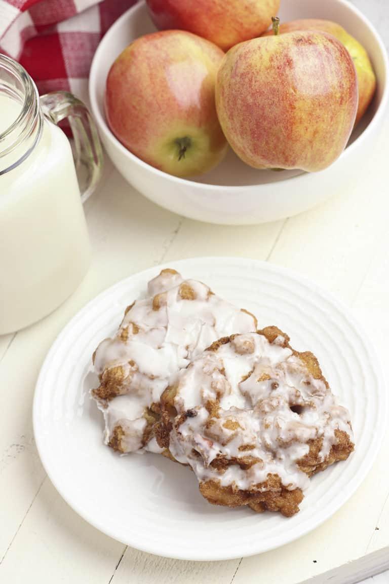 homemade gluten free apple fritters