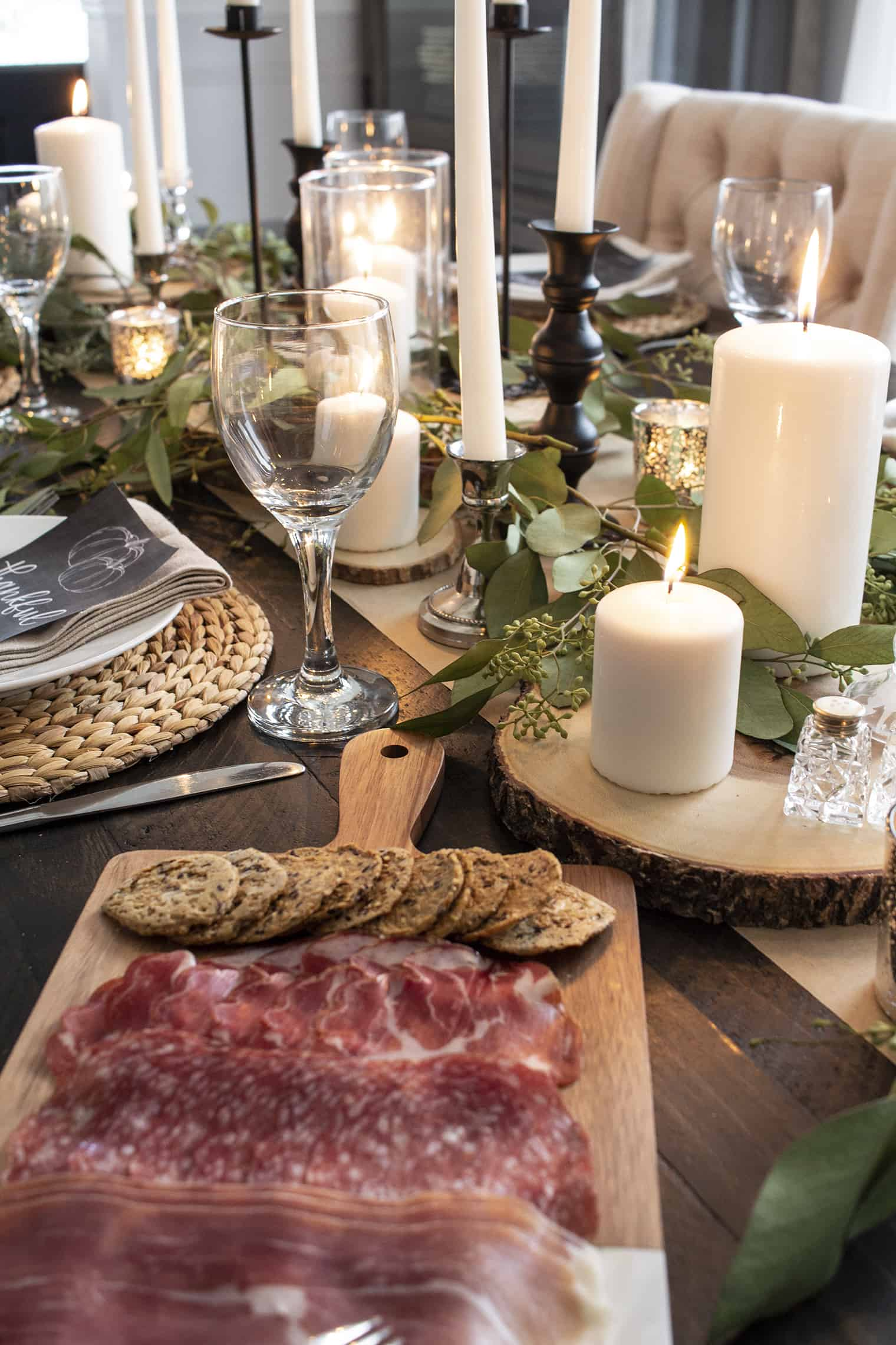 charcuterie and fall table