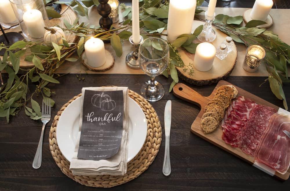 fall dining charcuterie board