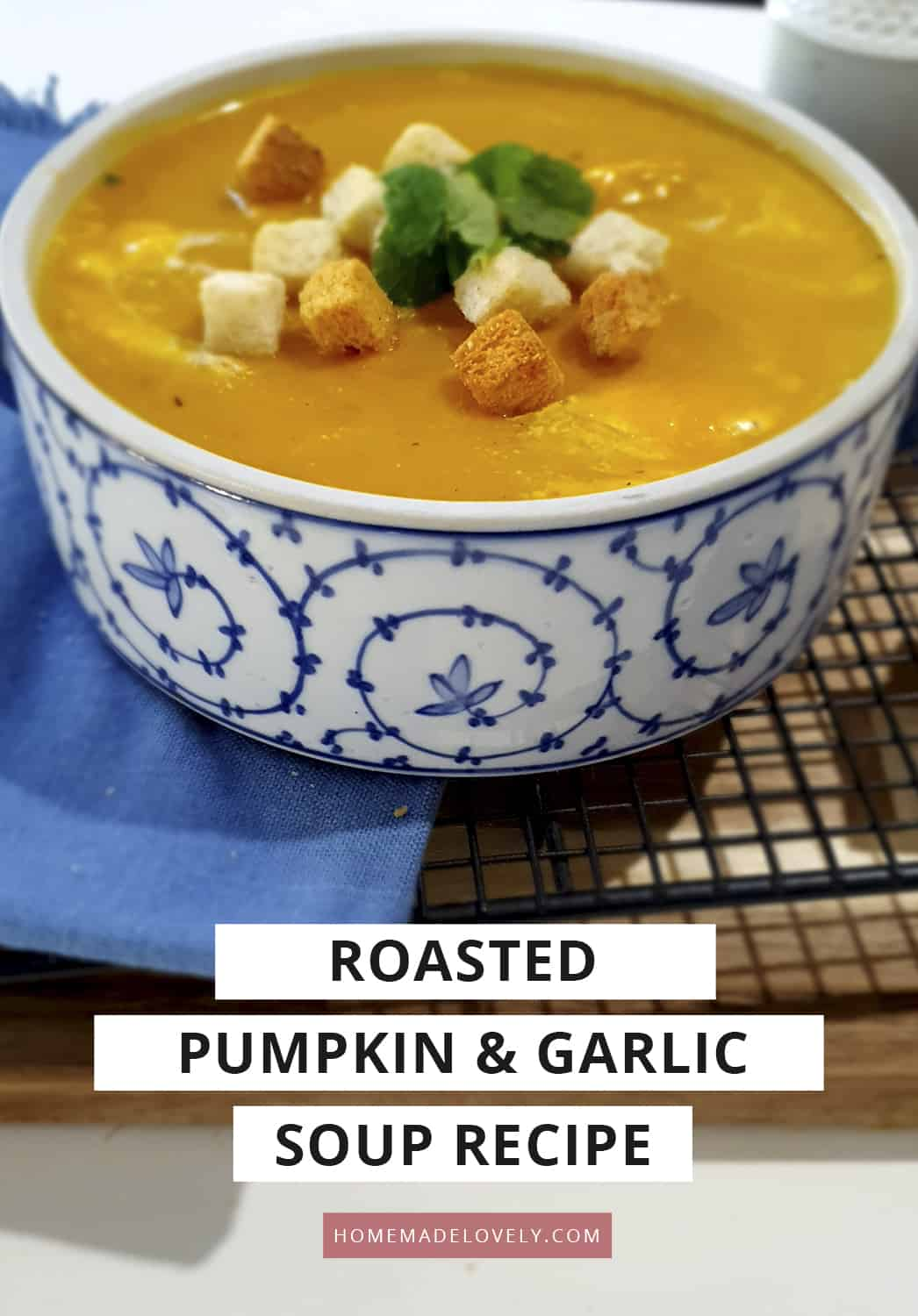roasted pumpkin and garlic soup recipe