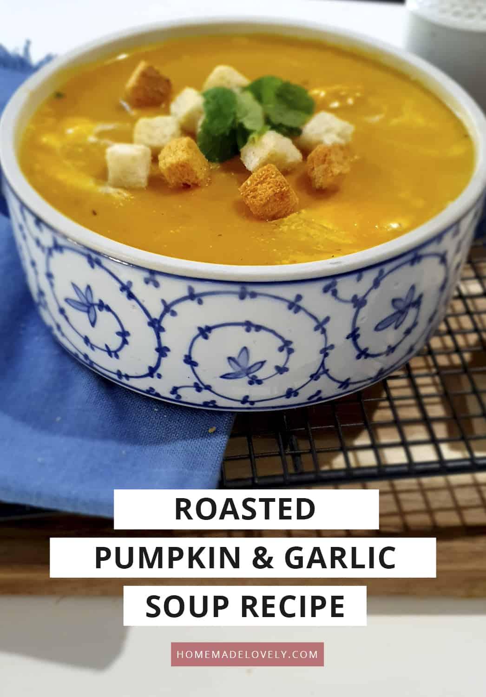 roasted pumpkin and garlic soup recipe