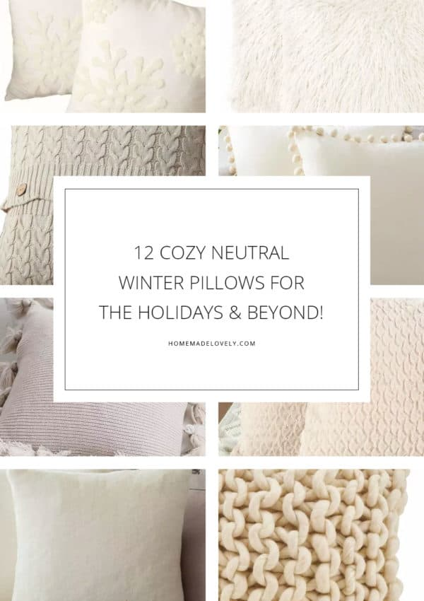 12 Cozy Neutral Winter Pillows for the Holidays and Beyond!