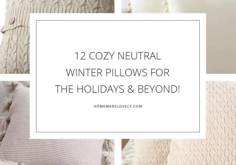 12 cozy neutral winter pillows