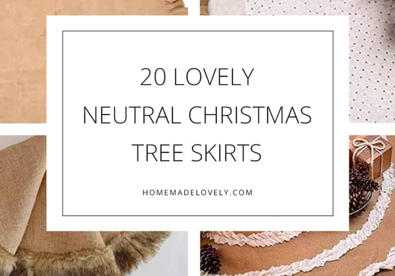Neutral Christmas Tree Skirts from Amazon